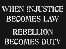 Rebellion Becomes Duty